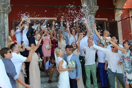 Hannah, our eldest daughter, marries in Croatia